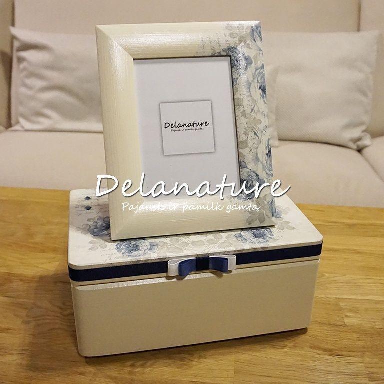 Dekoruota dėžutė ir rėmelis